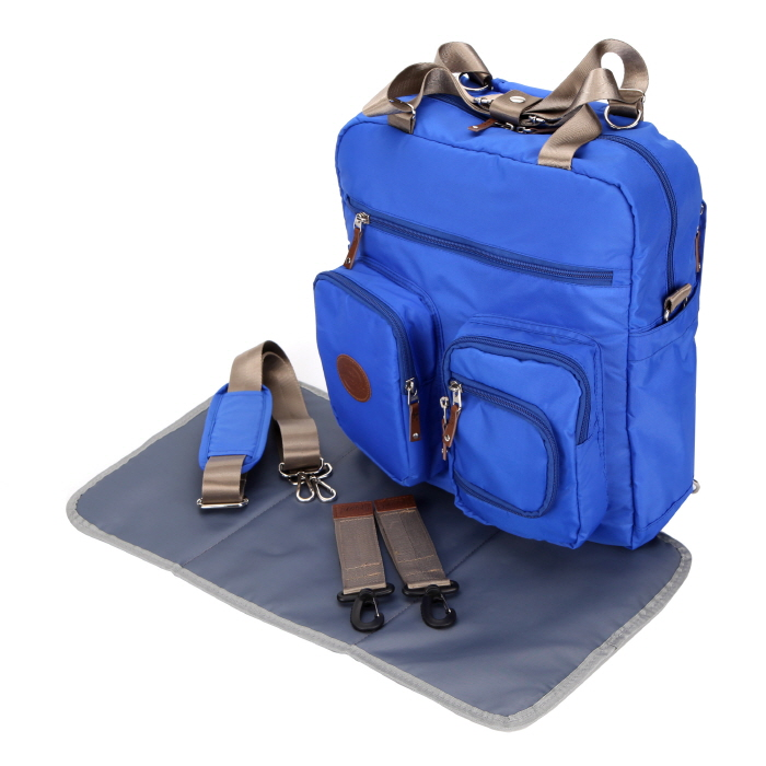 baby diaper bags backpack designer u2013 blue - Baby Diaper Bags