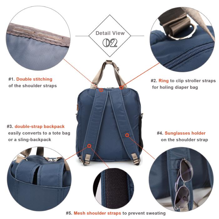 0e89fe709de7f Baby Diaper Bags Backpack Designer - Blue - anuant.com