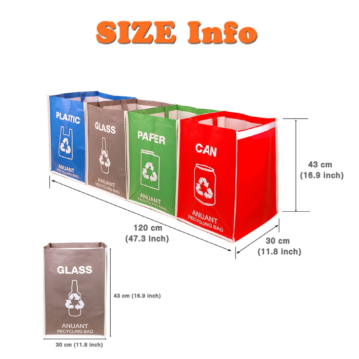Separate Recycling Waste Bin Bags in Home